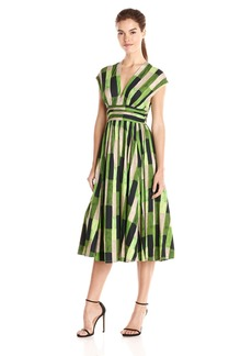 Tracy Reese Women's Abstract Print Fit Flare Dress