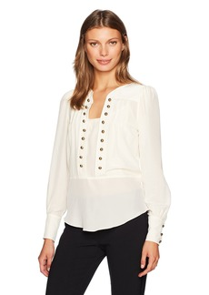 Tracy Reese Women's Button Blouse in Vanilla  M