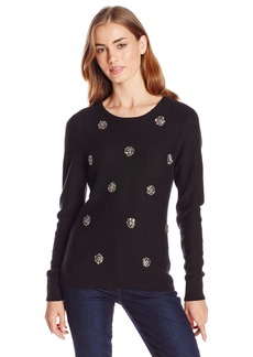 Tracy Reese Women's Cashmere-Blend Embellished Sweater