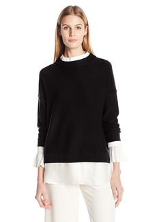 Tracy Reese Women's Combo Mock Blouse