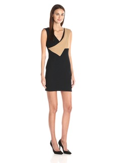 Tracy Reese Women's Contrast Surplice Sheath Dress