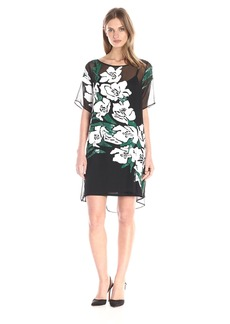 Tracy Reese Women's Easy T Dress White/Cilantro on Black