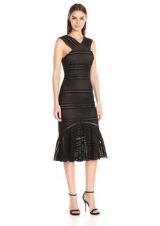 Tracy Reese Women's Flounced Halter Dress  L