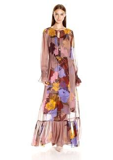 Tracy Reese Women's Flounced Maxi Dress  M