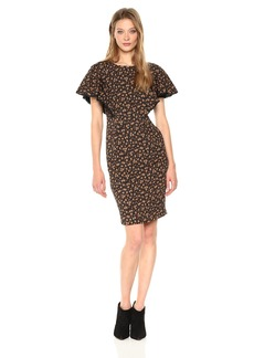 fedd435ab636a Tracy Reese Women's Flounced Sleeve Dress in Petite Fleur