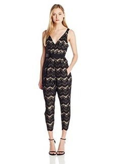 Tracy Reese Women's Lace Applique Jumpsuit