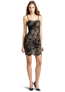 Tracy Reese Women's Lace Overlay Strapless Dress