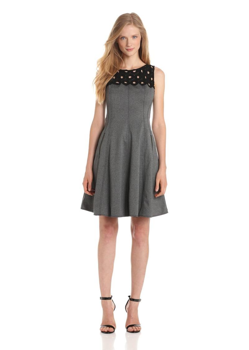 Tracy Reese Women's Lace Yoke Frock Dress