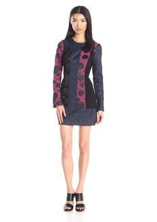 Tracy Reese Women's Long Sleeve Print Combo Dress