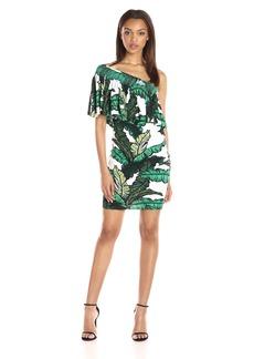 Tracy Reese Women's One Shoulder Flounce Dress  L