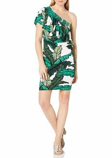Tracy Reese Women's One Shoulder Flounce Dress  M