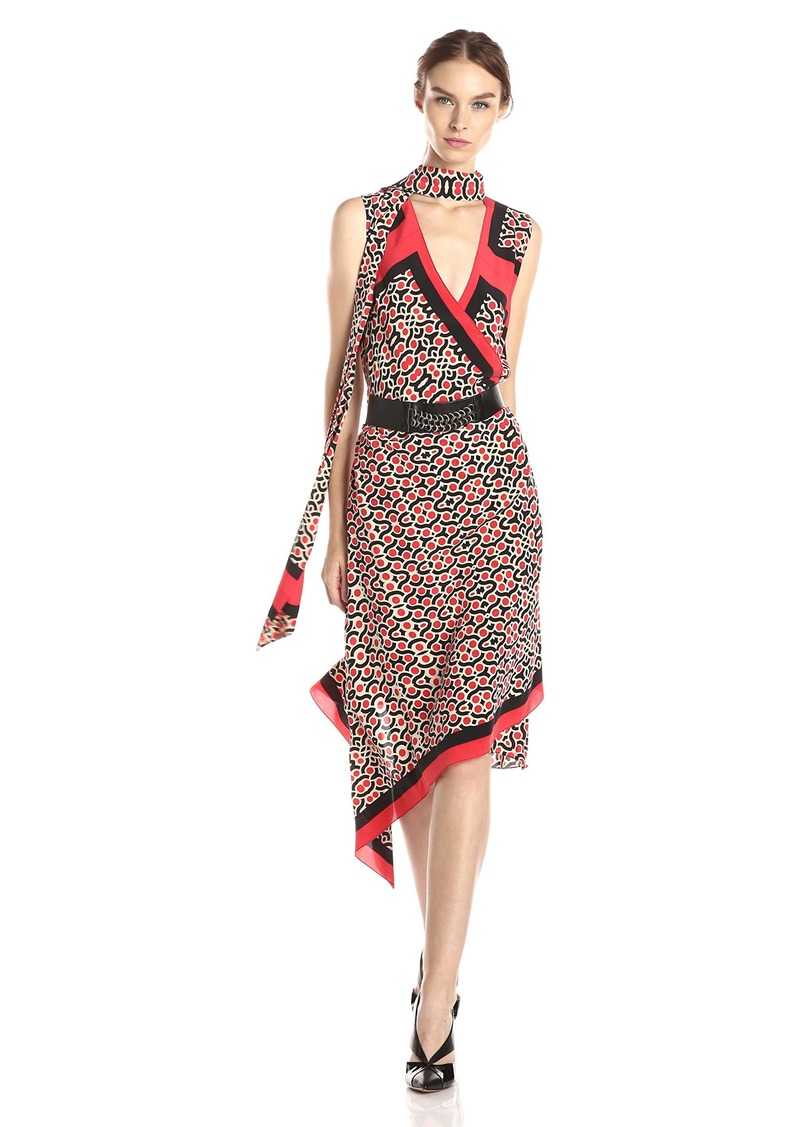 Tracy Reese Women's Printed Belted Dress