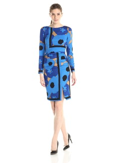 Tracy Reese Women's Printed Long Sleeve Placement Tee Dress