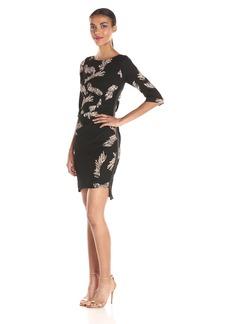 Tracy Reese Women's Side Zip T Dress Black/Creme Eyelash Placement