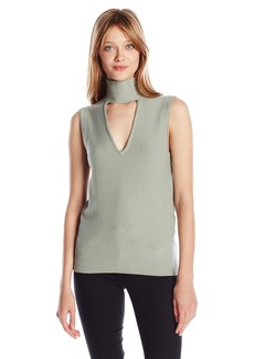 Tracy Reese Women's Sleeveless Turtle Sweater
