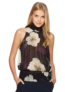 Tracy Reese Women's Smocked Halter  Blossom L