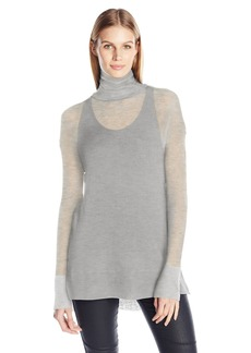 Tracy Reese Women's Soft Turtle Top  M