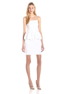 Tracy Reese Women's Stretch Cotton Peplum Dress
