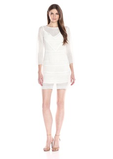 Tracy Reese Women's Three-Quarter-Sleeve Geometric Lace Dress