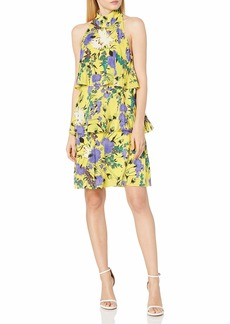 Tracy Reese Women's Tiered Halter Dress  M
