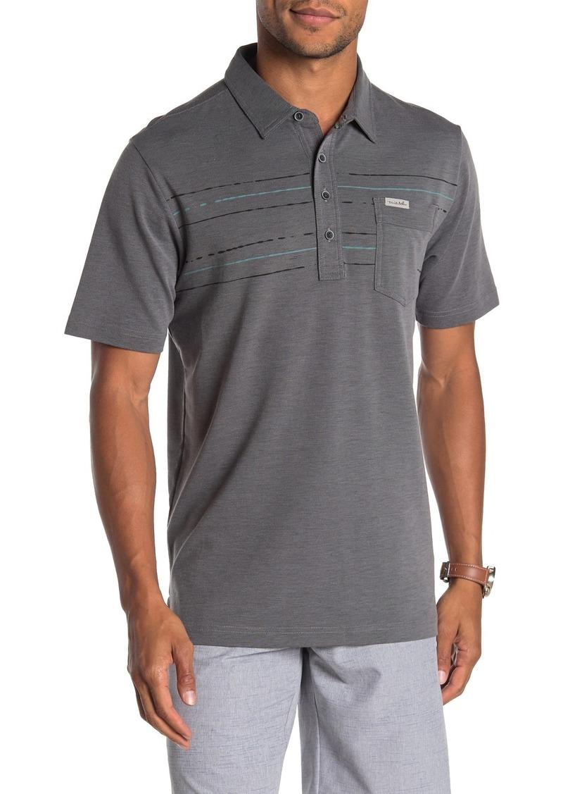 Travis Mathew B-Pic Striped Polo Shirt