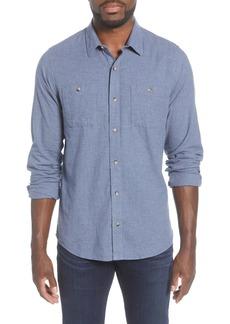 Travis Mathew Hefe Regular Fit Flannel Sport Shirt