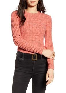 Treasure & Bond Marled Skivvy Ribbed Sweater