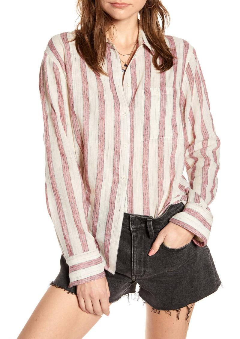 Treasure & Bond Oversize Stripe Shirt