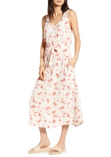 Treasure & Bond Sleeveless Tie Waist Midi Dress