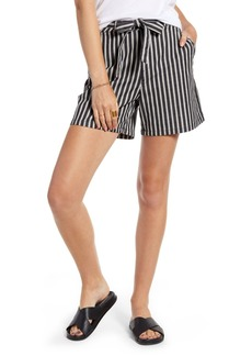 Treasure & Bond Stripe Tie Front Shorts