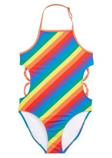 Treasure & Bond Cutout One-Piece Swimsuit (Big Girl)