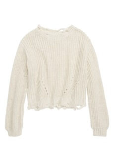 Treasure & Bond Deconstructed Sweater (Big Girls)