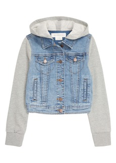 Treasure & Bond Kids' Hooded Denim Jacket (Big Girl)