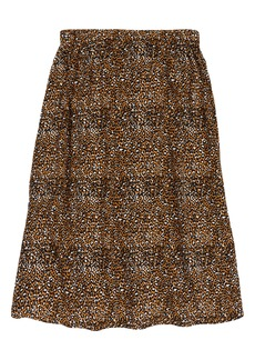 Treasure & Bond Kids' Leopard Print Midi Skirt (Big Girl)