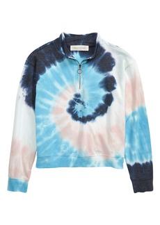 Treasure & Bond Quarter Zip Fleece Sweatshirt (Big Girl)