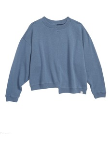 Treasure & Bond Seamed Crop Pullover (Big Girls)