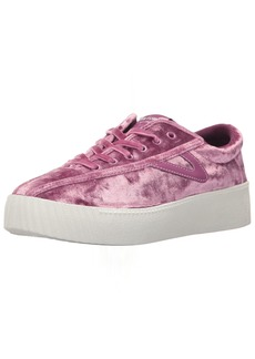 Tretorn Women's NYLITE4BOLD Sneaker Pink Crushed Velvet  M US