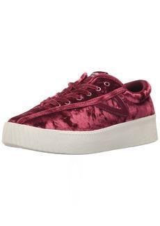 Tretorn Women's NYLITEBOLD Sneaker Red Crushed Velvet  M US