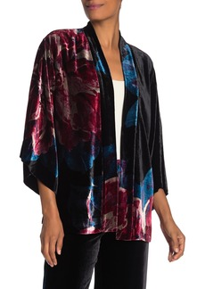 Trina Turk Agave Floral Velvet Kimono Top