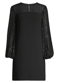 Trina Turk Airie Sequin Illusion Shift Dress
