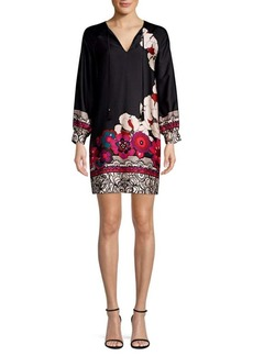 Trina Turk Alabaster Floral Print Shift Dress