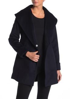 Trina Turk Ali Wool Blend Hooded Coat