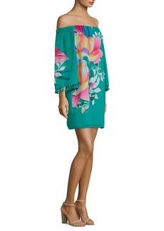 Trina Turk California Dreaming Amaris Off-The-Shoulder Dress