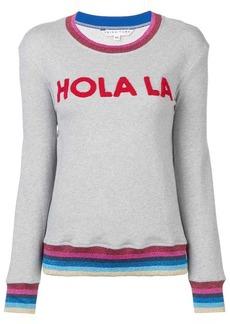 Trina Turk applique embellished hem sweatshirt