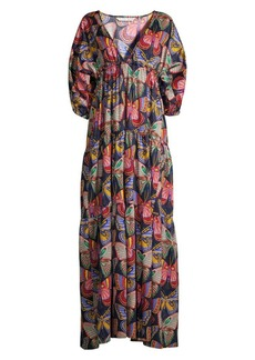 Trina Turk Arco Iris Cotton Maxi Dress