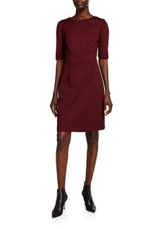 Trina Turk Aroma Elbow-Sleeve Ponte Dress