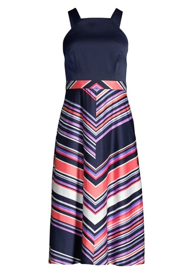 Trina Turk Arvida Halter Chevron Stripe Dress