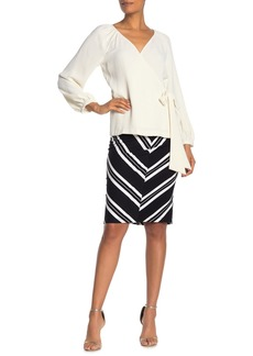 Trina Turk Ashby Chevron Stripe Knit Skirt