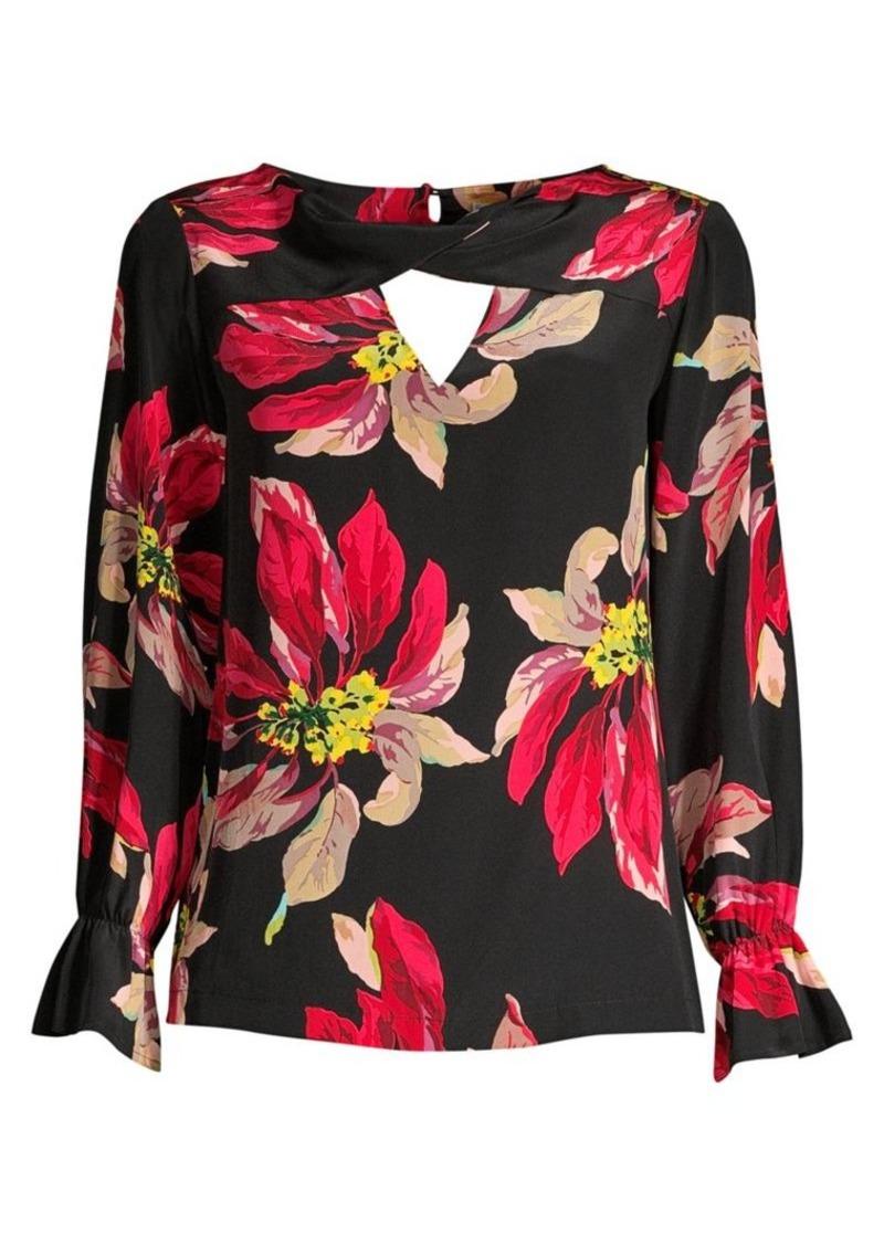 Trina Turk Ayako Floral Silk Blouse