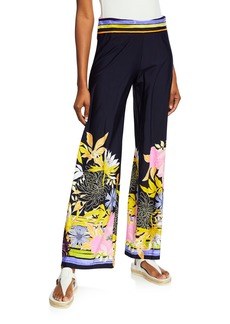 Trina Turk Bal Harbour Floral Roll-On Pants